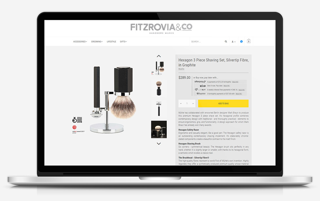 Fitzrovia & Co. Product Page